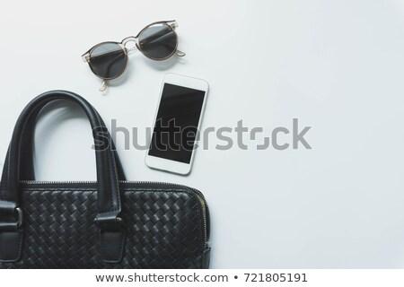 Siyah çanta seyahat iki mavi beyaz Stok fotoğraf © luapvision