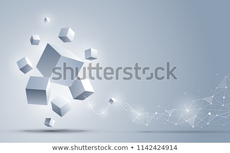 Cube vector with 3d effect Stock photo © burakowski