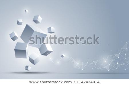 Küp vektör 3D etki toplantı inşaat Stok fotoğraf © burakowski