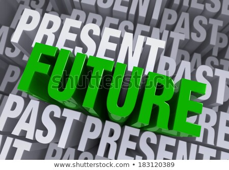 Stockfoto: The Future Emerges From The Past And Present