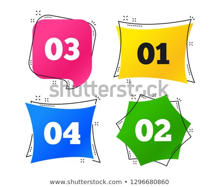 shopping flat colored buttons set 03 stock photo © ecelop