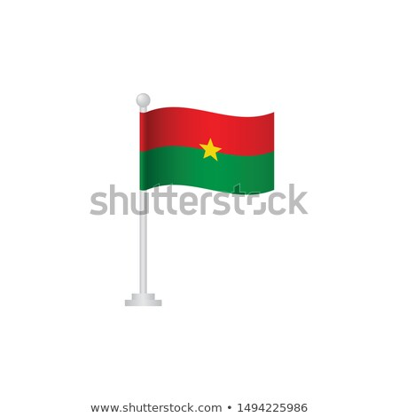 Burkina Faso Small Flag on a Map Background. Stock photo © tashatuvango