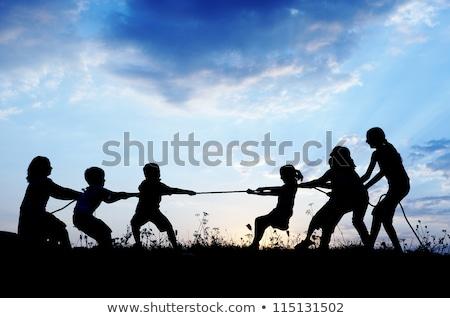 Stock fotó: Tinédzserek · játszik · háború · tengerpart · nyár · diákok