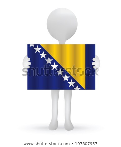 3D · bandera · Bosnia · Herzegovina · banderas · Europa - foto stock © istanbul2009