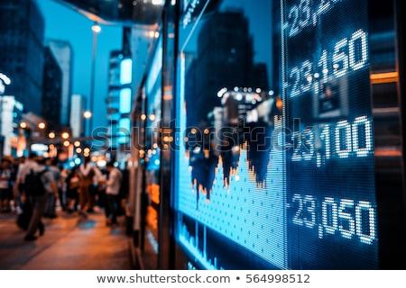Monitoring of stock index.  Stock photo © FrameAngel
