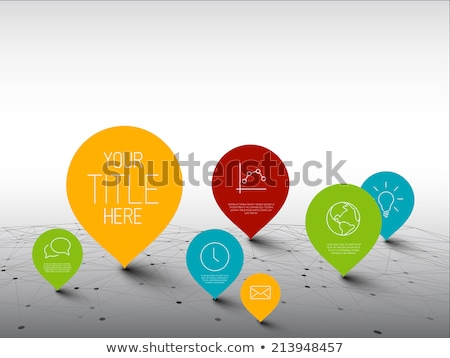 Infographic Template with pointers on a big network Stock photo © orson