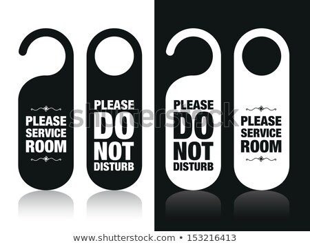 Please do not disturb on a door of number hotel  Stock photo © inxti