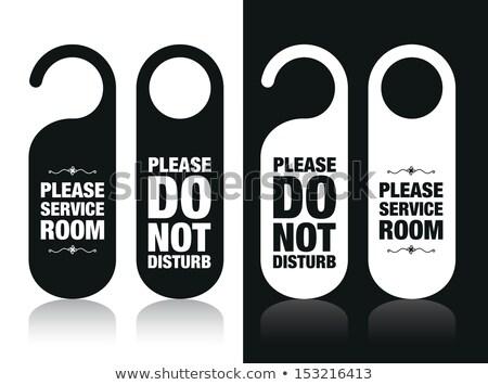 please do not disturb on a door of number hotel stock photo © inxti