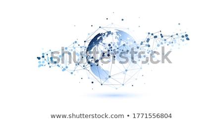 Esfera rede 3D gerado quadro abstrato Foto stock © flipfine