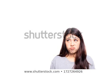 fiatal · nő · fehér · lány · tinédzser · gyönyörű - stock fotó © gemenacom