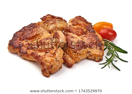 Carne de porco bife fresco grelhado comida fogo Foto stock © trexec