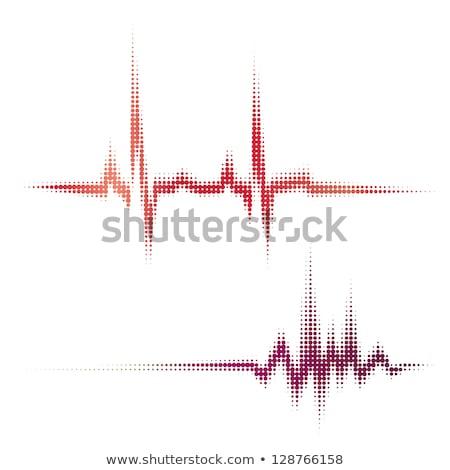 Elektronikus kardiogram illusztráció számítógép nő szív Stock fotó © adrenalina