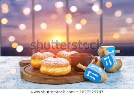 Hanukkiah On A Window Stock photo © LironPeer