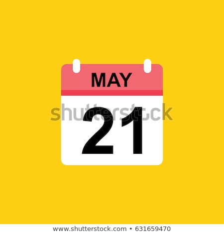 Calender Sign Yellow Vector Icon Design Stock photo © rizwanali3d