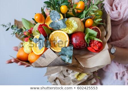 新鮮果物 花束 孤立した リンゴ オレンジ 食べ ストックフォト © mady70