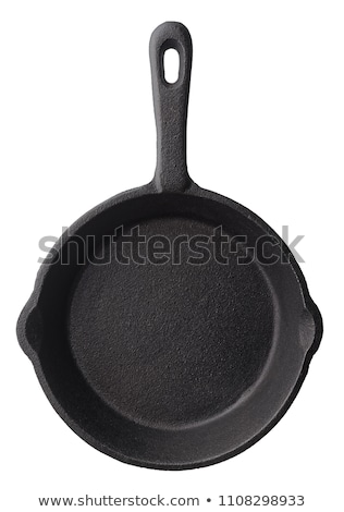 old frying pan isolated on white background stock photo © bsani