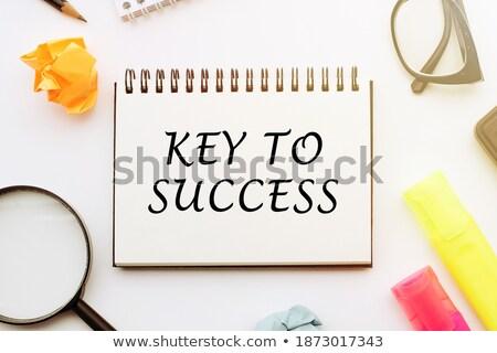 keys with word investment on golden label stock photo © tashatuvango