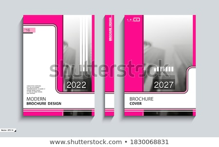 Office Work Square Vector Pink Icon Design Set Stock photo © rizwanali3d