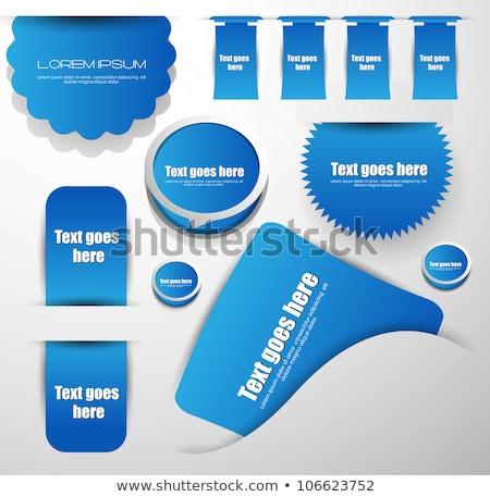 Blu etichette internet etichetta cerchio riflessione Foto d'archivio © vadimone