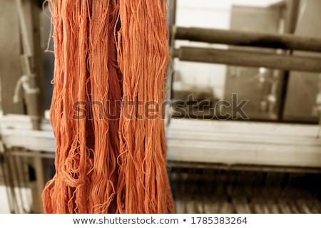 Cséve selyem kék fonál csetepaté textúra Stock fotó © stoonn