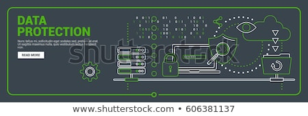 Network security conception, modern network symbols concept Stock photo © JanPietruszka