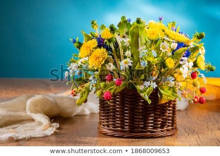 букет свежие Полевые цветы корзины цветок трава Сток-фото © mcherevan