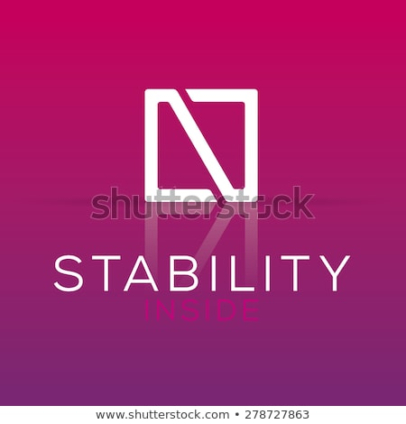 magenta letter n logotype design Stock photo © blaskorizov