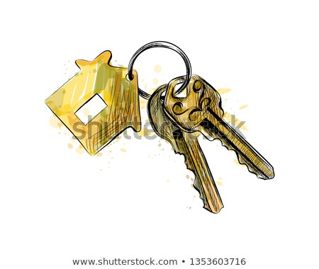Stock photo: Information Concept. Keys with Golden Keyring.
