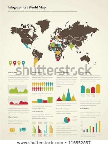 Weltkarte · Puzzle · isolierte · Objekte · weiß · abstrakten · Welt - stock foto © get4net