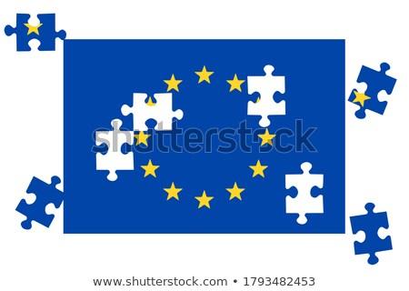 финансовых Новости синий головоломки белый деньги Сток-фото © tashatuvango