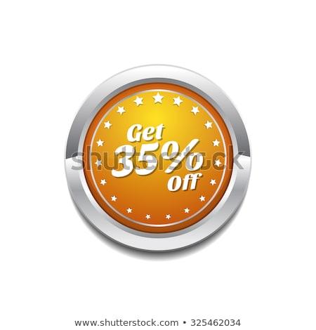 Százalék citromsárga vektor ikon gomb terv Stock fotó © rizwanali3d