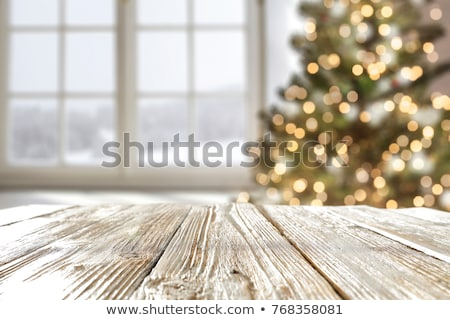 tea cup with christmas decoration on wooden table stock photo © vlad_star