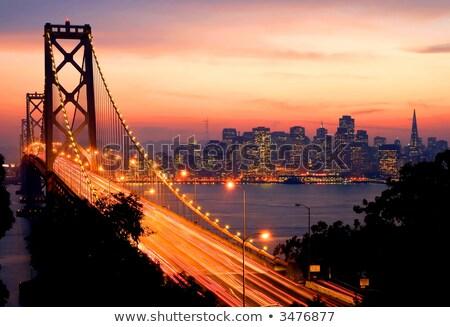 Nublado reflexión San Francisco California camino marina Foto stock © yhelfman