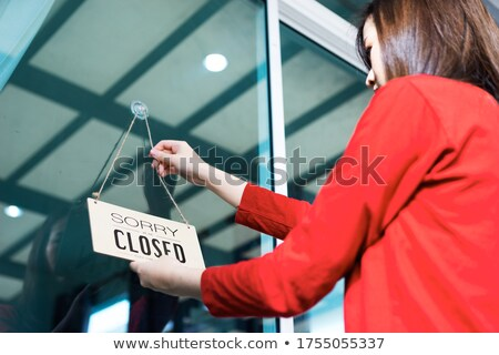 business woman under hanging Stock photo © Istanbul2009