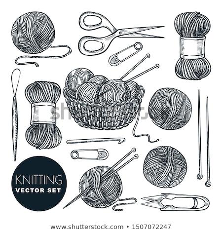 ball of yarn and knitting pin Stock photo © nito