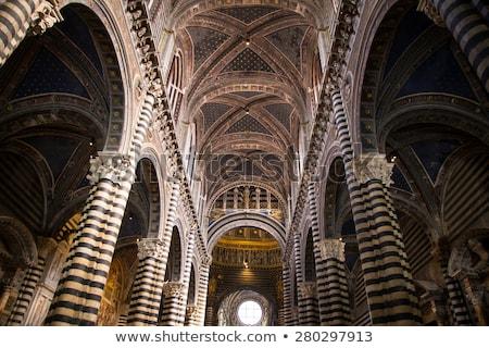 ceiling of Siena Duomo,  Italy Stock photo © meinzahn