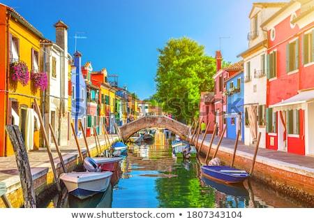 ヴェネツィア ランドマーク 島 運河 カラフル 住宅 ストックフォト © SergeyAndreevich