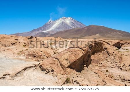 Hermosa cráter volcán Bolivia colorido Foto stock © meinzahn