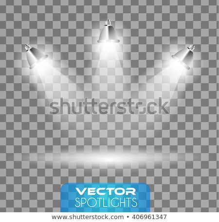 vector spotlights scene with different source of lights pointing to the floor or shelf stock photo © davidarts
