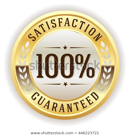 100 satisfaction Ouvrir la tag illustration isolé Photo stock © get4net
