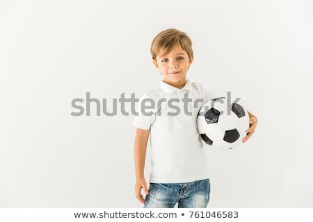 szőke · baba · fiú · stúdió · portré · boldog - stock fotó © zurijeta
