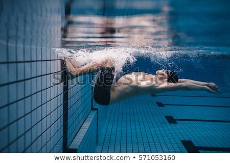 Swimmer training in pool. Stock photo © RAStudio