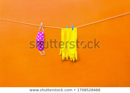 Clothesline and drying  clothes. Stock photo © gregepperson