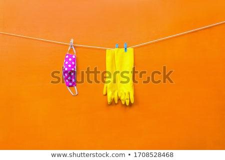 Waslijn kleding vers sokken pants opknoping Stockfoto © gregepperson