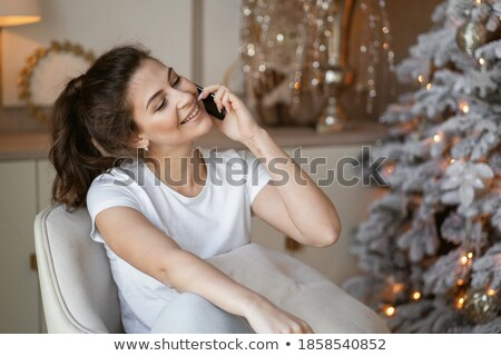 friends planning winter holidays online stock photo © spectral