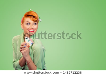pretty woman dealing with green economy Stock photo © Giulio_Fornasar