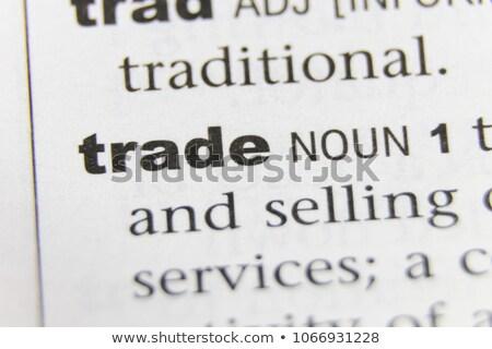 business · woord · corporate · corporatie · handel · betekenis - stockfoto © stuartmiles