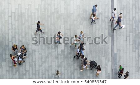 Luchtfoto mensen witte vergadering achtergrond tabel Stockfoto © bluering