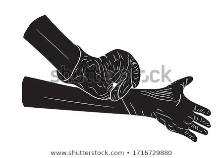 handen · arts · steriel · handschoenen · hand · geneeskunde - stockfoto © oleksandro