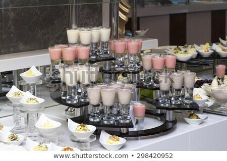 Dessert catering banket tabel vruchten mint Stockfoto © dashapetrenko